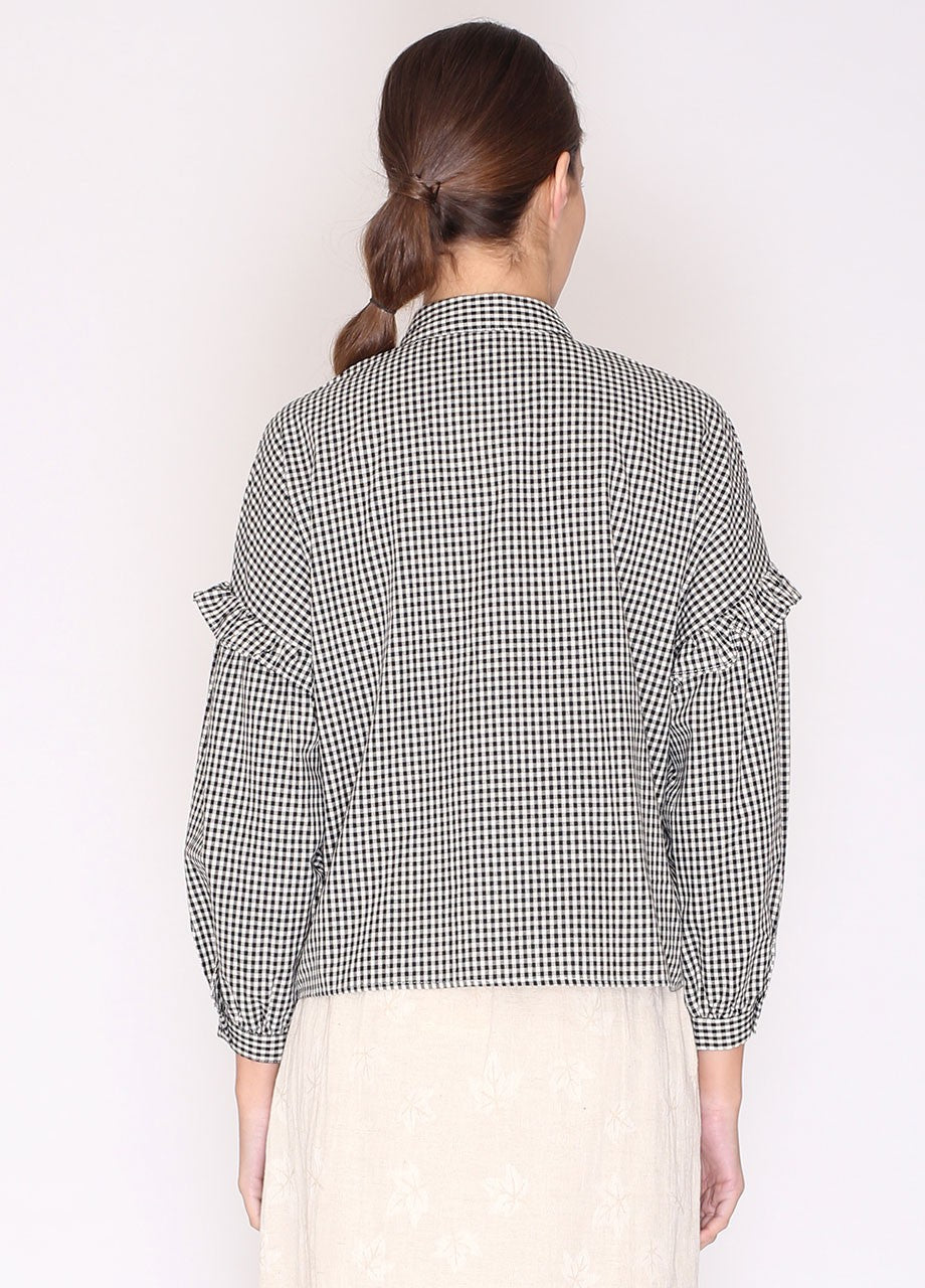 Gingham Shirt Black