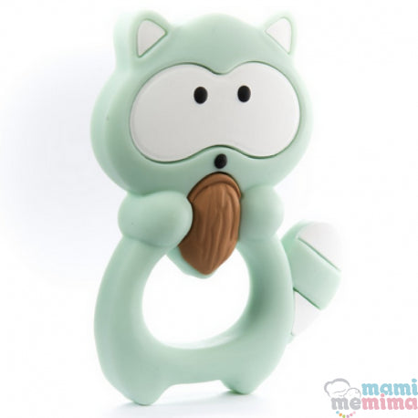 Mint Baby Raccoon Silicone Teether