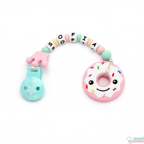 Pink Donuts Smile Silicone Teether