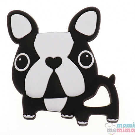 Black & White Frenchie Bulldog Silicone Teether
