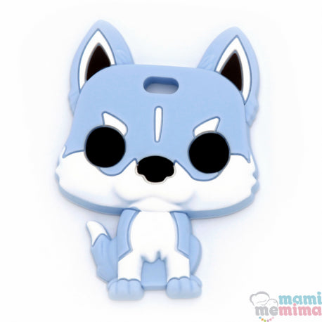 Blue Husky Silicone Teether