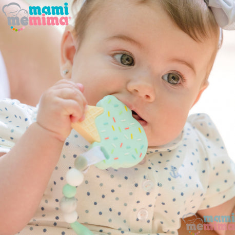 Mint Ice Cream Silicone Teether
