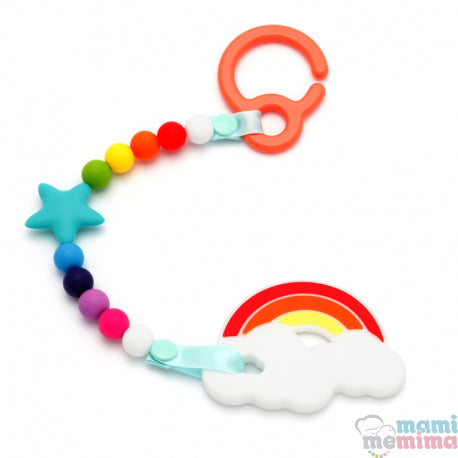 Pack Rainbow Teether Toy  For Cart With Rainbow Teether