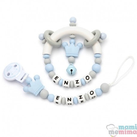 Pack Personalized Prince Sweet Blue - Teether & Rattle Teether