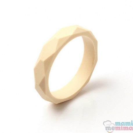 Beige Silicone Teether Bracelet