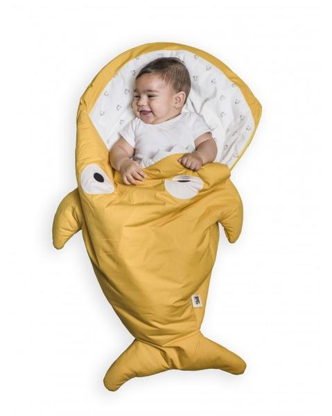 Mustard shark sleeping bag for babies - Chicks (WINTER VERSION)