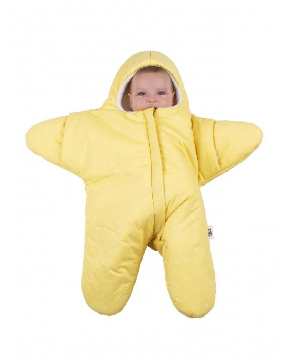 Yellow Baby overall Star - constellation pattern