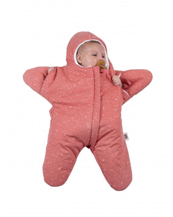 Coral Baby overall Star - constellation pattern SUMMER