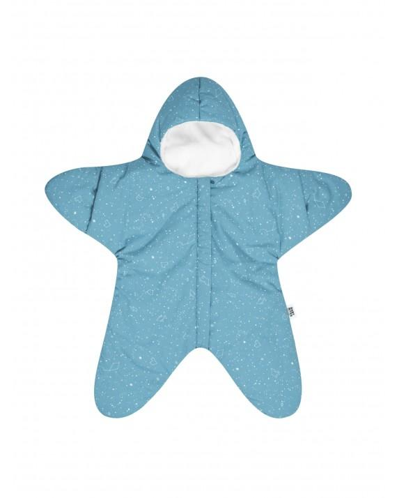 Turquoise baby overall star - Constellation pattern