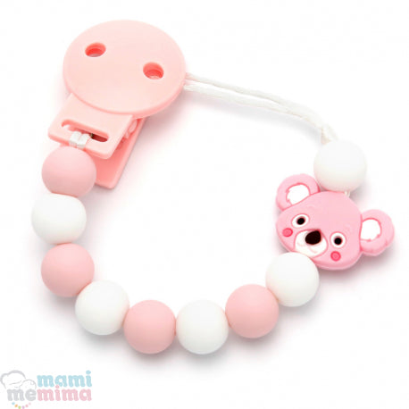 Pink Koala Silicone Teether Pacifier