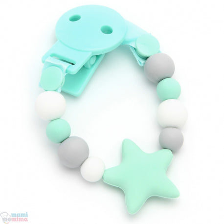 Mint Star Sweet Silicone Teether Pacifier