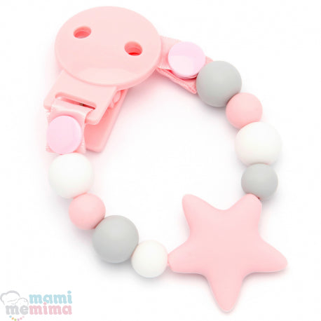 Pink Star Silicone Teether Pacifier