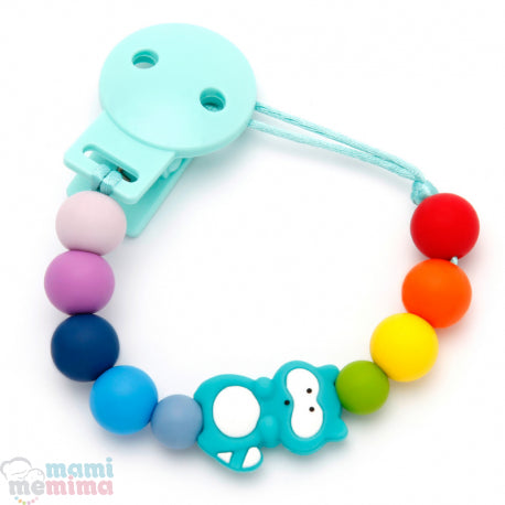 Rainbow Raccoon Silicone Teether Pacifier