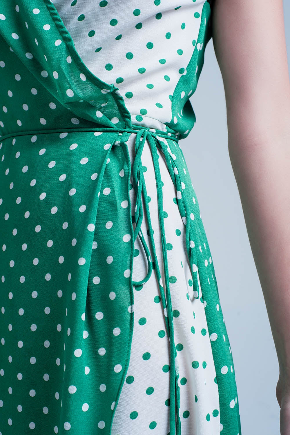 Green Dress With Polka Dots
