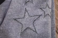 Load image into Gallery viewer, silver embroidered stars