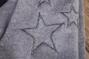 silver embroidered stars