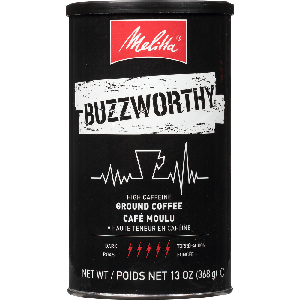 Buzzworthy High Caffeine Dark Roast 13oz Can