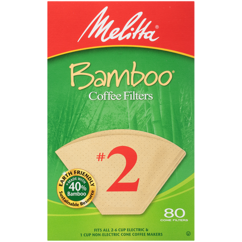 #2 Cone Bamboo Filter Paper - 80 Count