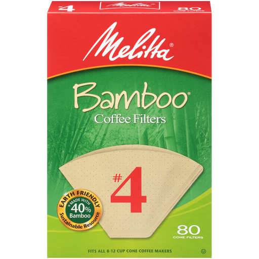#4 Cone Bamboo Filter Paper - 80 Count main