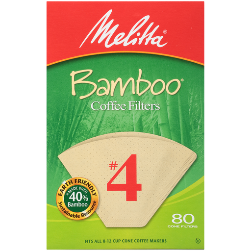#4 Cone Bamboo Filter Paper - 80 Count hover
