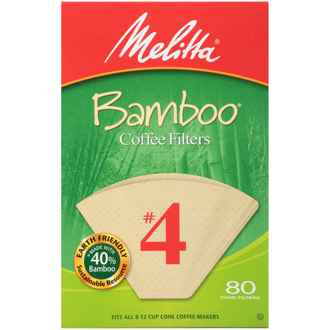 #4 Cone Bamboo Filter Paper - 80 Count