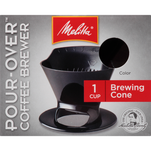 1-Cup Pour-Over™ Coffee Brew Cone - Black hover