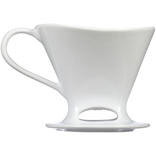 Signature Series 1-Cup Pour-Over Coffeemaker - Porcelain, White main