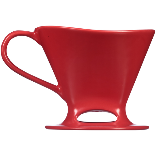 Signature Series 1-Cup Pour-Over Coffeemaker - Porcelain, Matte Red main