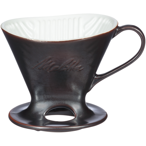 Signature Series 1-Cup Pour-Over Coffeemaker - Porcelain With Metallic Finish, Gunmetal hover