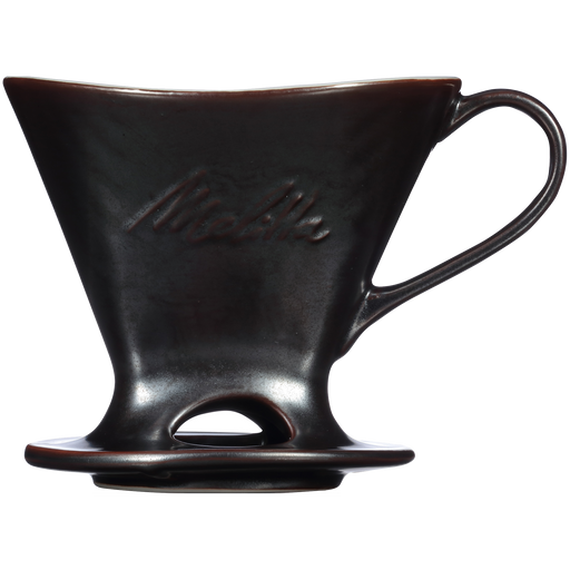 Signature Series 1-Cup Pour-Over Coffeemaker - Porcelain With Metallic Finish, Gunmetal main