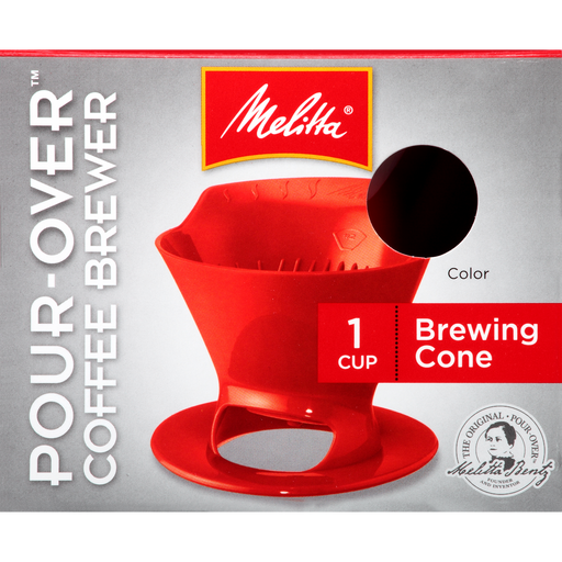 1-Cup Pour-Over™  Coffee Brew Cone - Red hover