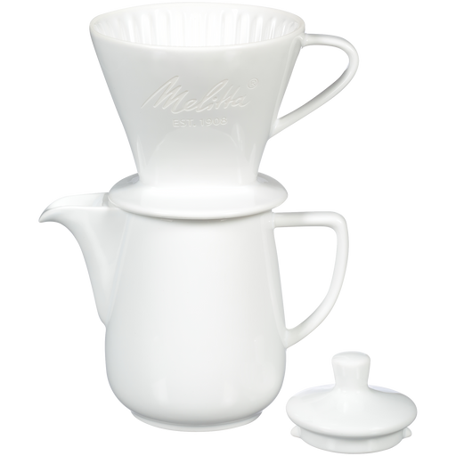 Heritage Series Porcelain Pour-Over™ Coffeemaker - White hover