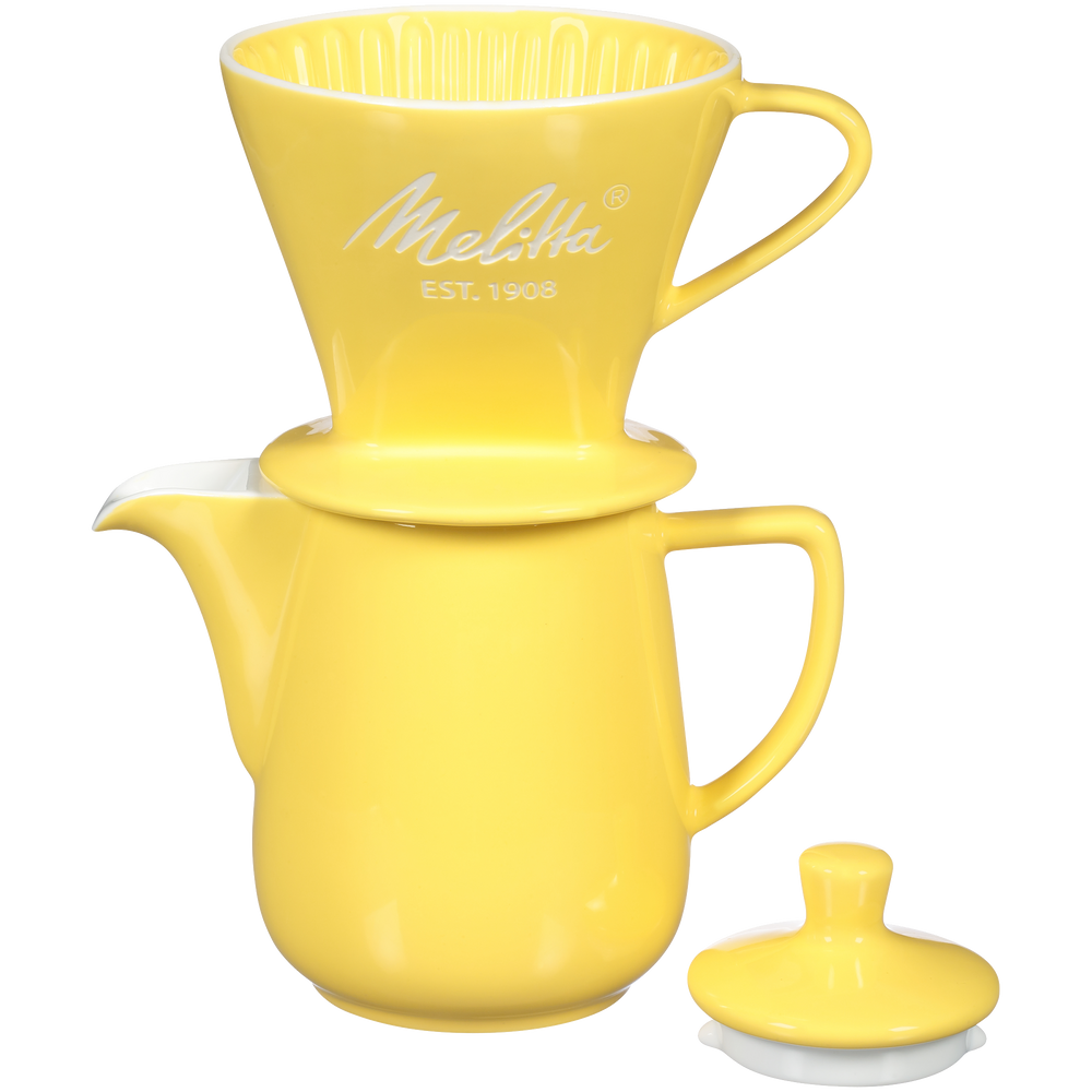 Heritage Series Porcelain Pour-Over™ Coffeemaker - Pastel Yellow