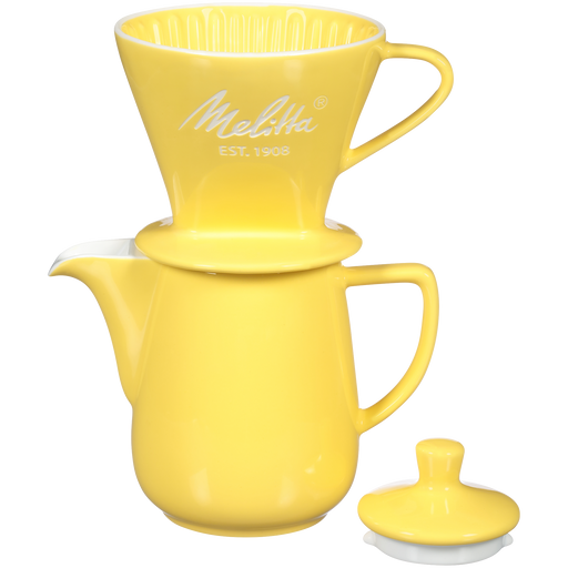 Heritage Series Porcelain Pour-Over™ Coffeemaker - Pastel Yellow hover
