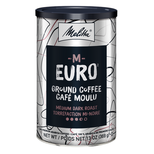 M-Euro Medium Dark Roast Ground Coffee 13oz Can hover