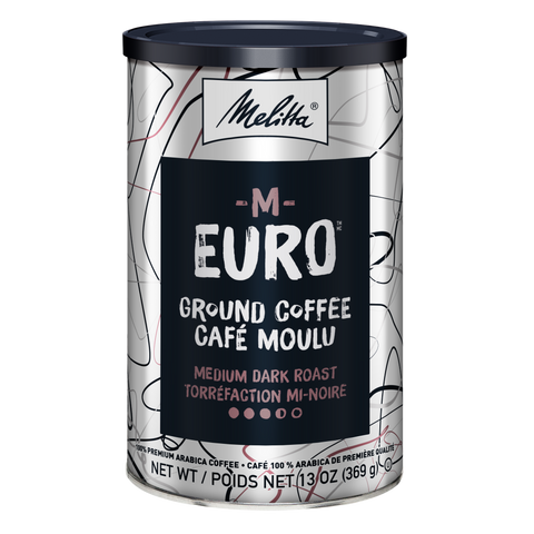 M-Euro Medium Dark Roast Ground Coffee 13oz Can