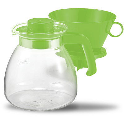 Pour-Over Coffeemaker & Glass Carafe Set (52oz) - Green hover