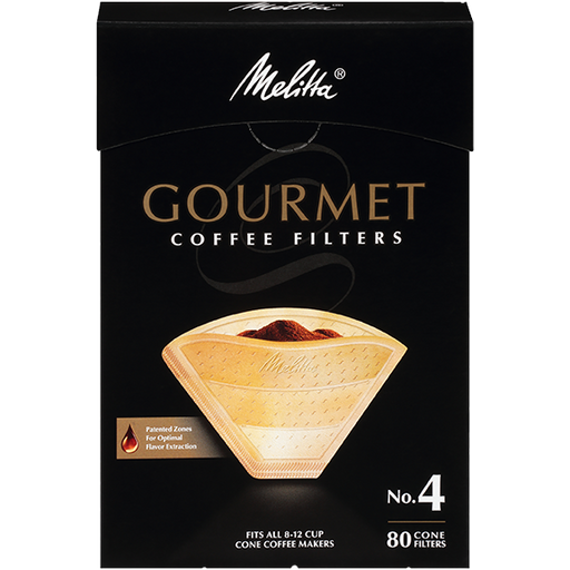 Melitta No. 4 Gourmet Filter Paper fits all 8-12 Cup Cone Coffeemakers that take #4 filters hover