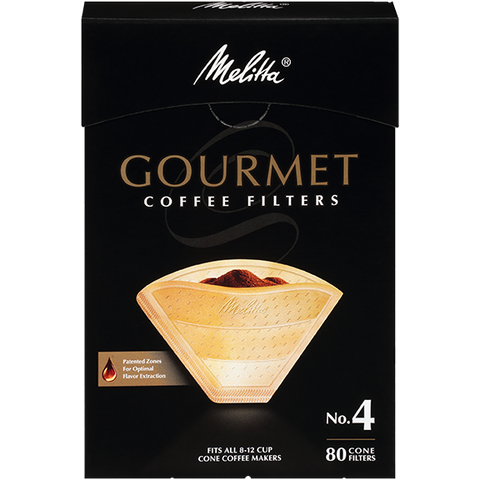 Melitta No. 4 Gourmet Filter Paper fits all 8-12 Cup Cone Coffeemakers that take #4 filters