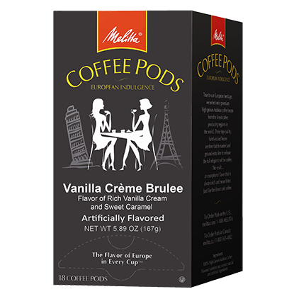 Vanilla Creme Brulee Coffee Pods - 18ct