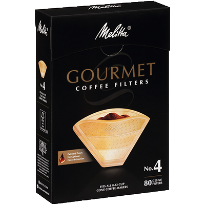 Melitta No. 4 Gourmet Filter Paper fits all 8-12 Cup Cone Coffeemakers that take #4 filters main