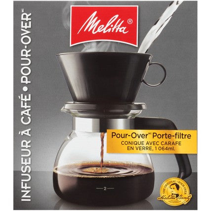 Pour-Over Coffeemaker & Glass Carafe Set - 36oz