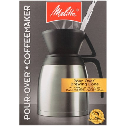 Thermal Pour-Over Coffeemaker and Stainless Carafe Set hover