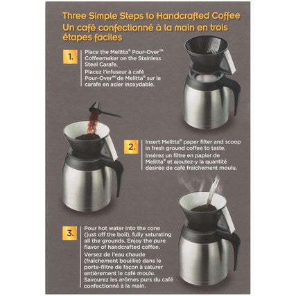 Thermal Pour-Over Coffeemaker and Stainless Carafe Set main