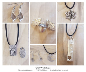 Craft Workshop Thursday 17th June 2021: Learn to make silver art clay jewellery in a day (beginner level)