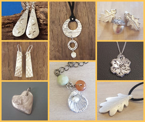 Craft Workshop Thursday 8th July 2021: Learn to make silver art clay jewellery in a day (beginner level)