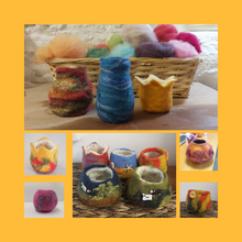 Craft Workshop Saturday 26th June 2021:  Wet Felting Workshop: Introduction to 2D Pictures and 3D Construction