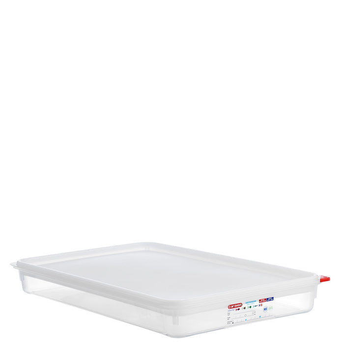 Araven 1/1 Airtight Gastronorm Container with Lid Polypropylene