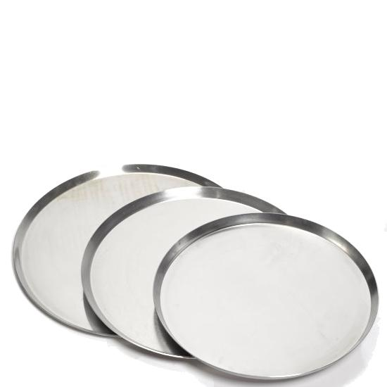 "Thin Crust Aluminium Pizza Pan 0.75"" Deep"