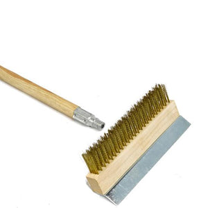 "Brass Bristle Brush 10"" Scraper"